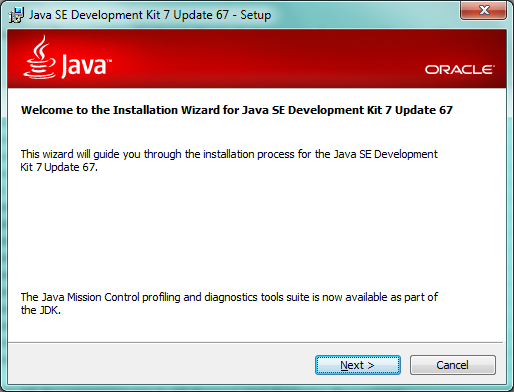 Fig - Java installation screen
