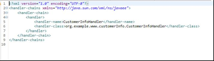 Fig - The generated Handler–chain.xml