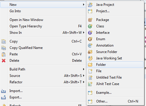 Create Folder For Java Project