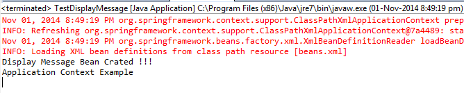 Example program results