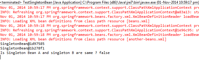 Example program output