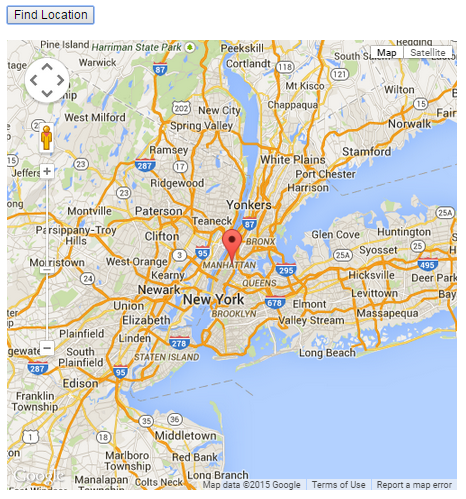 HTML5 display map example